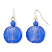 Mixit™ Gold-Tone Blue Glass Drop Earrings