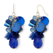 Mixit™ Gold-Tone Blue Cluster Teardrop Earrings