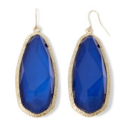 Mixit™ Gold-Tone Cobalt Blue Drop Earrings