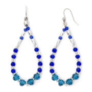 Mixit™ Silver-Tone Blue and Teal Bead Teardrop Earrings