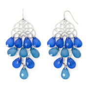 Mixit™ Silver-Tone Blue and Teal Chandelier Earrings