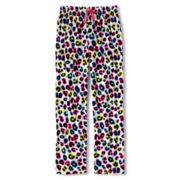 Total Girl® White Leopard Fleece Sleep Pants - Girls 4-20