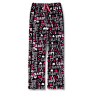 Total Girl® Love Fleece Sleep Pants - Girls 4-20
