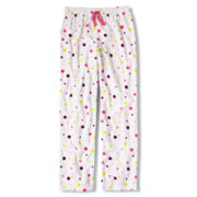 Total Girl® Multi Dot Fleece Sleep Pants - Girls 4-20