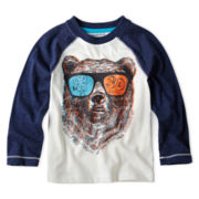 Arizona Long-Sleeve Novelty Raglan Tee – Boys 2t-6