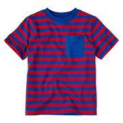 Okie Dokie® Short-Sleeve Striped Knit Tee – Boys 2t-6
