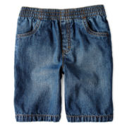 Okie Dokie® Pull-On Denim Shorts – Boys 2t-6