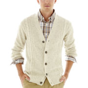 Dockers® Nep Cable-Knit Cardigan Sweater