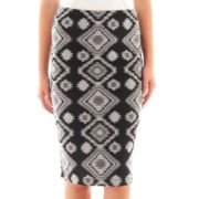 by&by Aztec Print Midi Skirt