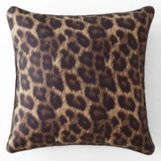Home Expressions™ Safari Leopard Square Decorative Pillow