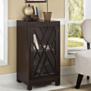 Burgess Accent Table with Glass Door