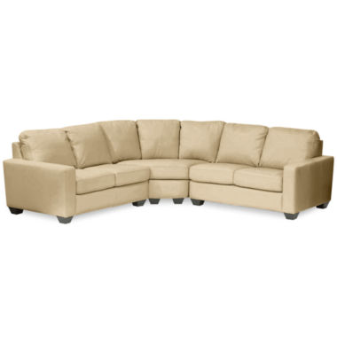 jcpenney.com | Leather Possibilities Track-Arm 3-pc. Loveseat Sectional