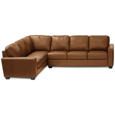 jcpenney.com | Leather Possibilities Track-Arm 2pc Left-Arm Corner Sofa Sectional