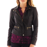 a.n.a® Faux-Leather Moto Jacket - Tall