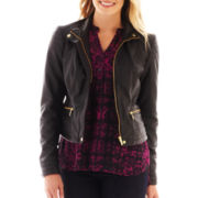 a.n.a® Faux-Leather Moto Jacket