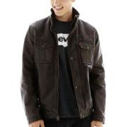 Levi's® Sherpa-Lined Faux-Leather Trucker Jacket