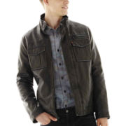 Levi's® Sherpa-Lined Faux-Leather Trucker Jacket