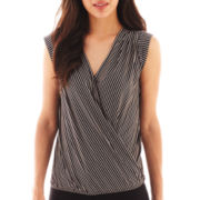 Worthington® Cap-Sleeve Crossover Top