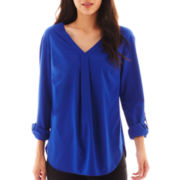 Worthington® Long-Sleeve Tunic Blouse - Petite