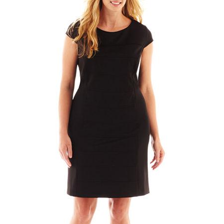 Studio 1 Cap-Sleeve Sheath Dress - Plus