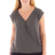 Worthington® Cap-Sleeve Banded Top - Plus