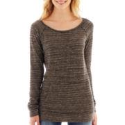 a.n.a® Long-Sleeve Kangaroo Pocket Pullover Top