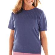 Alfred Dunner® Hillside Cottage Short-Sleeve Sweater Shell