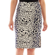Worthington® Print Pencil Skirt - Petite
