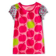 Okie Dokie® Short Sleeve Mixed Print Tee - Girls 2y-6y