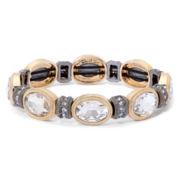 Monet® Two-Tone Crystal Oval Stretch Bracelet