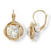 Monet® Gold-Tone Crystal Drop Earrings