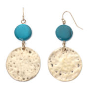Mixit™ Hammered Disc Earrings