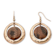 Mixit™ Animal-Print Disc Earrings