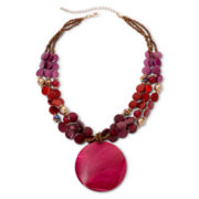 Mixit™ Berry Shell Round Pendant Necklace