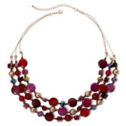 Mixit™ Mixed Berry 3-Row Illusion Necklace