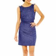 Speechless Sleeveless Embellished Glitter Dress