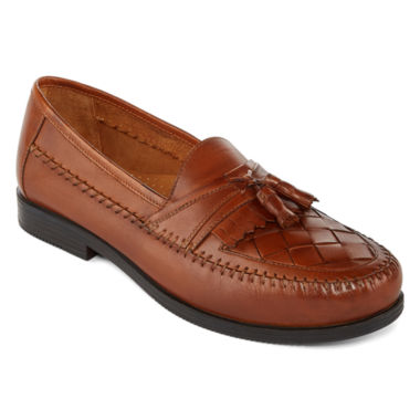 jcpenney.com | Stafford® Burke Mens Leather Tassel Loafers