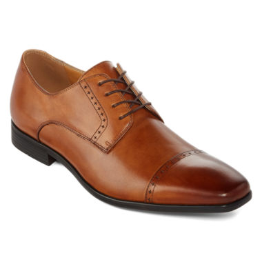 jcpenney.com | Collection by Michael Strahan  Wilshire Mens Leather Cap-Toe Oxford Shoes