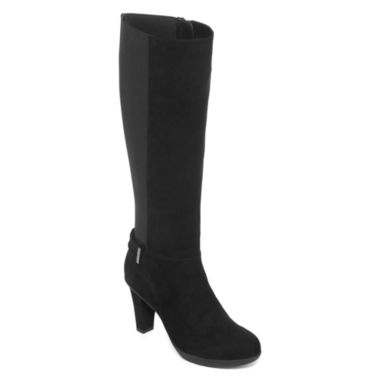 jcpenney.com | Liz Claiborne® Singer Heeled Tall Boots - Wide Calf, Wide Width