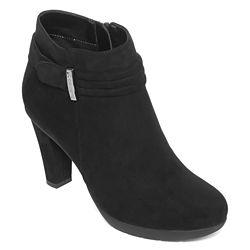 Liz Claiborne Spector Heeled Ankle Womens Booties - Black