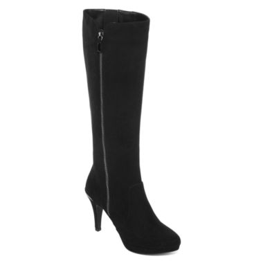 jcpenney.com | Liz Claiborne® Eldridge Heeled Tall Shaft Boot - Wide Calf, Wide Width