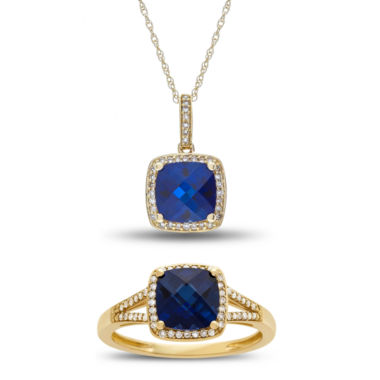 jcpenney.com | Womens 2-pc. Blue Sapphire 10K Gold Jewelry Set