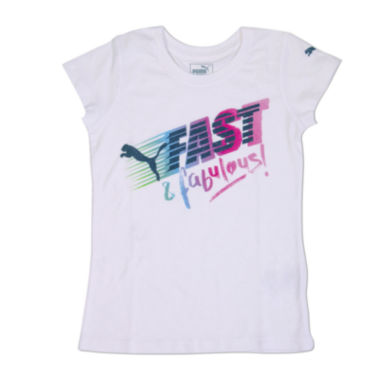 jcpenney.com | Puma® Short-Sleeve Fast-n-Fab Tee - Preschool Girls 4-6x