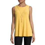 by&by Sleeveless Mockneck Ribbed Top