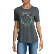 Drapey Short-Sleeve Olympic Tee - Juniors
