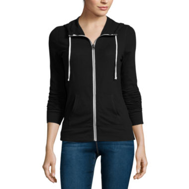 jcpenney.com | City Streets® Long-Sleeve Zip Hoodie - Juniors