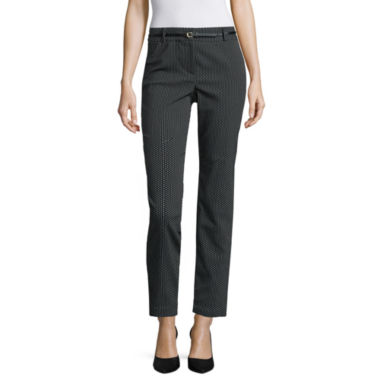 jcpenney.com | Liz Claiborne® Emma Belted Ankle Pants - Tall
