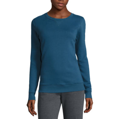 jcpenney.com | Made for Life™ Long-Sleeve Fleece Crewneck Pullover