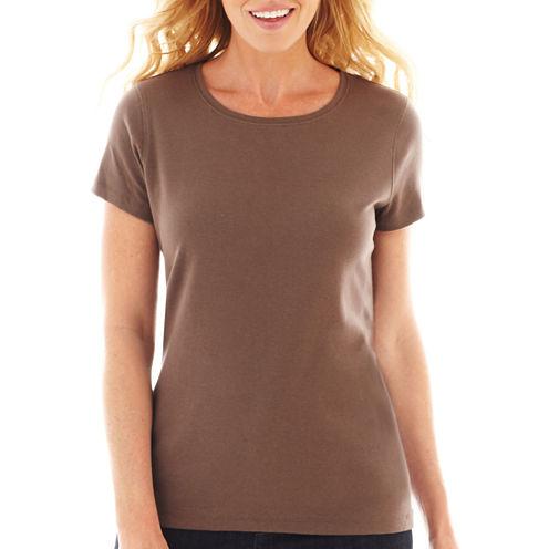 St. John's Bay® Short-Sleeve Crew T-Shirt - Tall