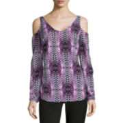 Worthington® Long-Sleeve Cold Shoulder Blouse